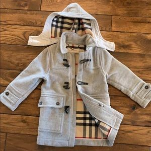 Burberry kids wool duffel coat